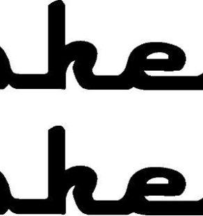 Piper Cherokee Six Logo Decal PAIR (2)
